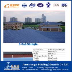 Eco Friendly Fiberglass Asphalt Roofing Shingles