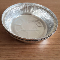 """7"""" round aluminum foil container/tin food container/tray/plate/lunch box/large/roaster/pizza/bbq pan"""