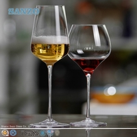 SANZO Novelty Coloured Fluted Wine Glasses for Decoration