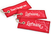 Customized Promotional Canvas Embroidered Keychain