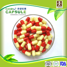 medicine red and yellow pill empty gelatin capsules