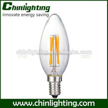 3014 cob led filament candle bulb light c35 led filament bulb c35 e14 4w 220v 3014 cob led filament candle bulb light c35