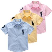terylene oxford lawn embroider T/C boy shirt