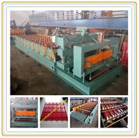 New design automatic glazed roof tile roll forming machine/metal roof making mchine Chinese manufacturer
