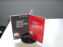 3 sided rotating acrylic paper holder, acrylic menu holder