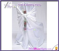 white cheap universal chair covers in satin farbic for wedding events decorations