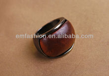 Fashion New Design High Quality Wood Alloy Ring