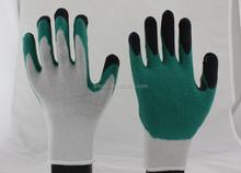 New!10 gauge cotton liner latex coated gloves