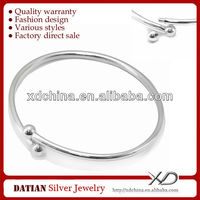 XD XP028 removable screw ending soft bangle 925 sterling silver bracelets