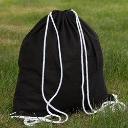 2016 Custom Promotional Black Cotton Drawstring Bag