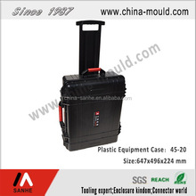 plastic equipment case with wheel and scalable tie rod for equipment