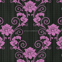 home decoration design elegant flower wall paper in wallpapers