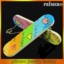 PRIMERO high quality Promotional gifts custom key chain mini baby nail file Colorful Cheap Personalized key chain