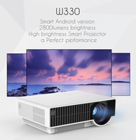 vivibright Projector W330 android WIFI Projector native 1280*800P,TV/USB/HDMI/VGA,led Projector exceed mini PROJECTOR