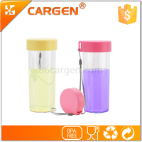 Printed silk screen flat lid portable tritan sport kids water bottle