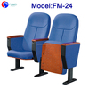 FM-24 Cheap price wood church pew chairs with armrests for sale
