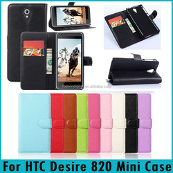 Flip PU Leather Wallet Phone Case Cover For HTC Desire 620
