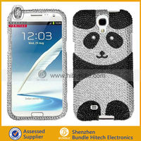 For Samsung Galaxy S4 Crystal Diamond BLING Case Snap On Phone Cover Silver