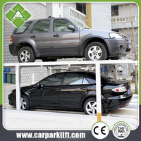 auto car pit parking storage system 3 level vertical horizontal parking lift equipment with CE