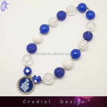 Fashion Wholesale Jewelry Chunky Statement Beads Necklace With Basketball Bottle Caps For Children