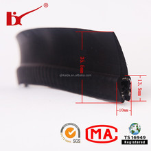 Custom extruded edge protection rubber car door weather stripping