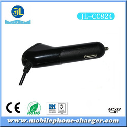 10W high power drive 2a USB port car charger built in micro cable for android devices