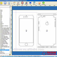 daqin brand sticker cutting software for cusstomized mobile phone sticker