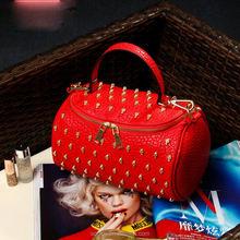 SFD-150512 2015 Tassel Skull Rivet Bag Lowest Price Pu Leather Women Tote Bag