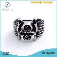 skull ring with wing,skull ring with diamond,skull rings for men