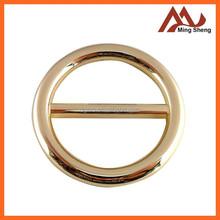 fashion shiny light gold alloy belt buckles for lady