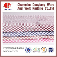 2015 hotsell cationic flannel fabric yarn dyed fabric plaid flannel fabric