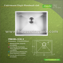 Housestar hardware product useful furniture sinks bathroom with sound pads sinks stainless steel No.5145-5