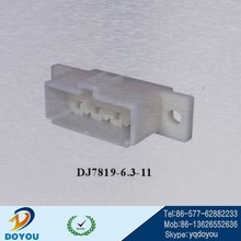 DJ7819-6.3-21 8pin wire assembly connector with mounting holes