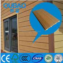eco - friendly 108 * 10mm wood plastic composite outdoor wall board