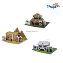 3d diy house puzzle brain development toys