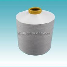Draw texturing yarn 100% pes yarn semi-dull 75/72 Raw White for Weaving