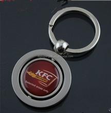 Personalized basketball shaped metal & plastic keyring