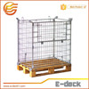 E-DECK Zinc plated collapsible Welded Cage Pallet