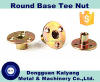 M12 Round Base Tee Nut (Furniture Fastener Nuts and Bolts) with Bright (White)/ Blue/ Yellow Zinc Plated