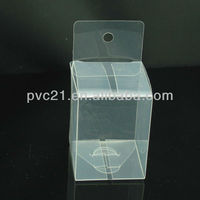 Eco-friendly transparent hard plastic gift box packaging