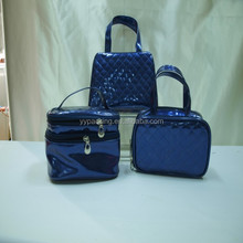 2015 Fashion Korean Blue Pretty Butterfly PU Portable Luxury Women Ladies Girl's Cosmetic Bag