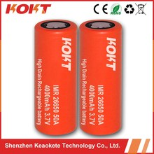 high capacity imr 26650 battery 4000 mah 3.7V 26650 li ion battery for electric scooter