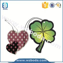 2015 customized heart car freshener with low price