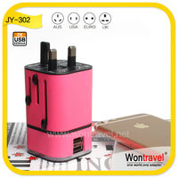 JY-302 universal wall charger with high output,usb travel charger for global use