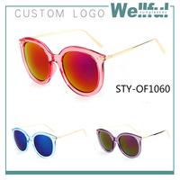 wholesale branded sunglasses women colorful mirror lens city vision sun glasses