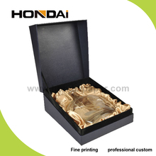 Wholesale new product black high quality wine glass display gift box