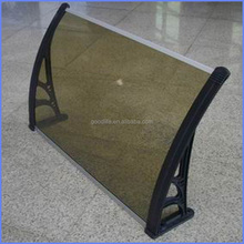 polycarbonate aluminum frame awning for doors and windows