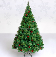8ft artificial xmas tree decoration popular PE+PVC mixed christmas tree