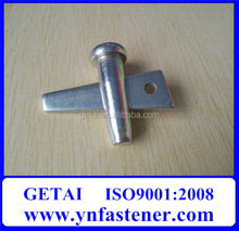 Hardware stub pin for constructions