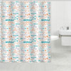 Color English letters printing polyester waterproof bathroom window curtain fabric bathroom liner